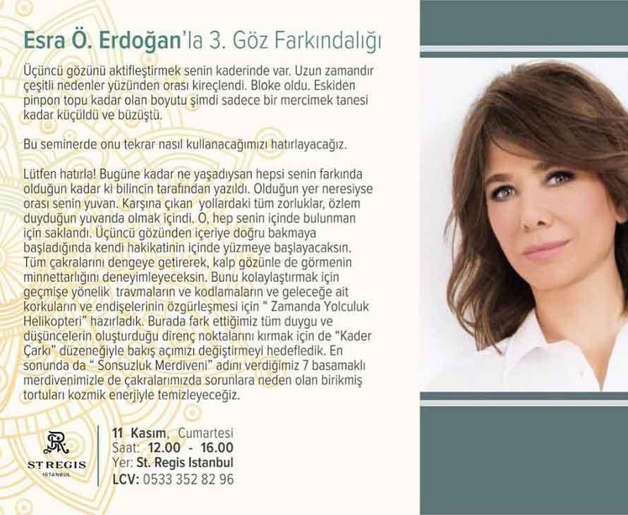 Esra Ö Erdoğan'la 3. Göz Farkındalığı