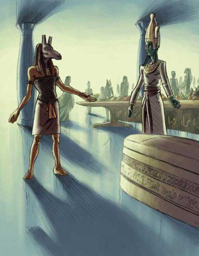 Mısır Firavun Set ve Amon Ra