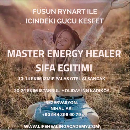 """Fusun Rynart ile Uluslararası Sertifikalı """"Master Energy Healer"""" eğitimi"""