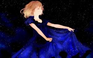 2319-anime-girl-night-stars-smile-blue-dress-1280x800