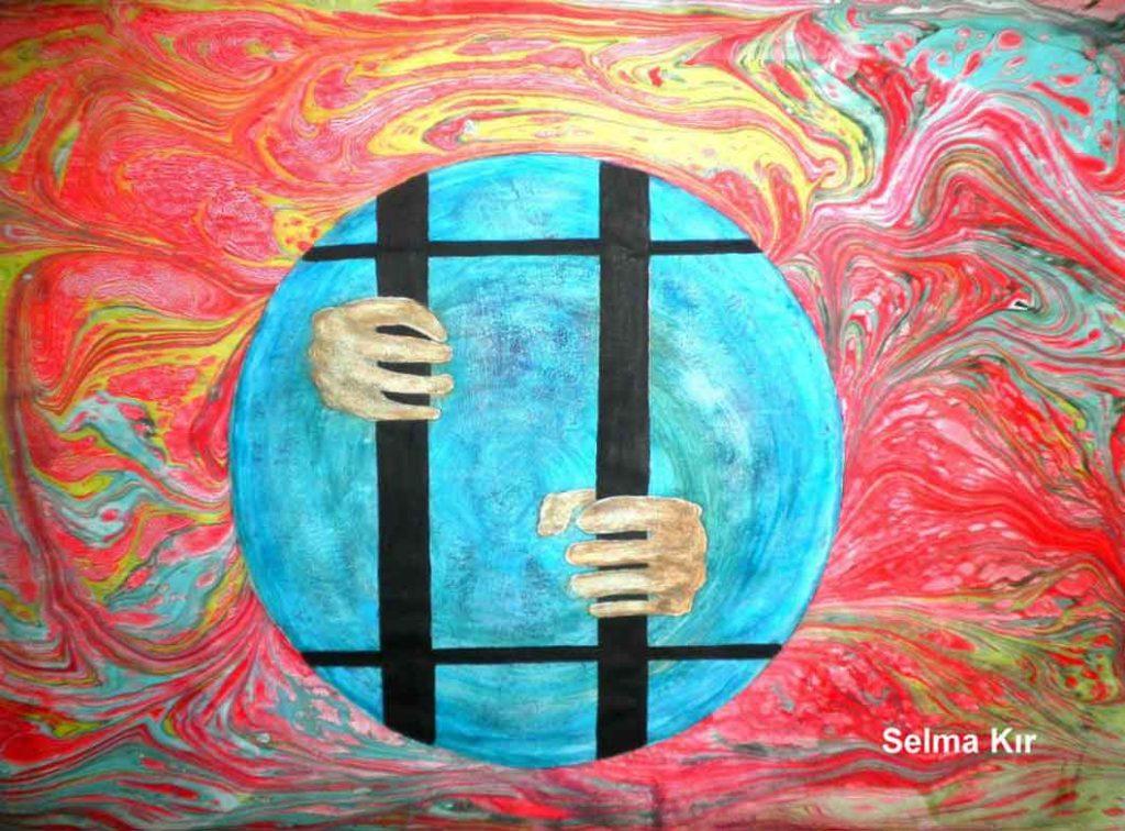 Ebru çalışması - Selma KIR